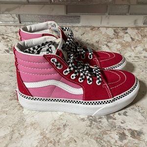 Vans Sk8-Hi Checkerboard Foxing Chili Red & Pink